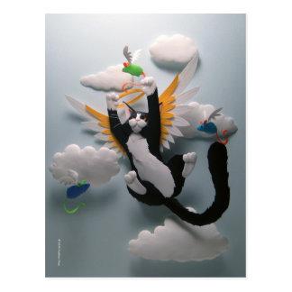 Katzen-Himmels-Postkarte Postkarte