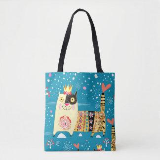 Katzen, Hippie, Böhme und Katzen des freien Tasche
