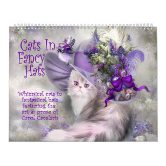 Katzen im extravaganten Hut-Kunst-Kalender Kalender