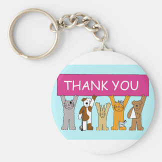 Katzen in den Verbänden, dank Tierarzt Schlüsselanhänger