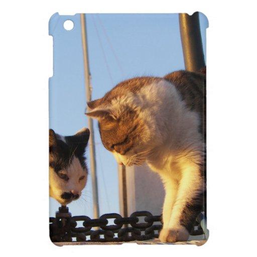 Katzen in einem Boatyard iPad Mini Etui