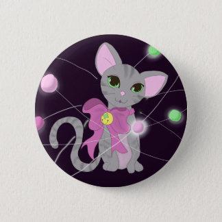 Katzen-Ionenknopf Runder Button 5,1 Cm
