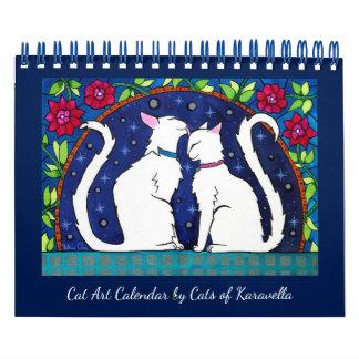 Katzen-Kalender durch Katzen von Karavella Atelier Abreißkalender