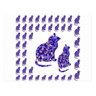 Katzen-Kätzchen Postkarte