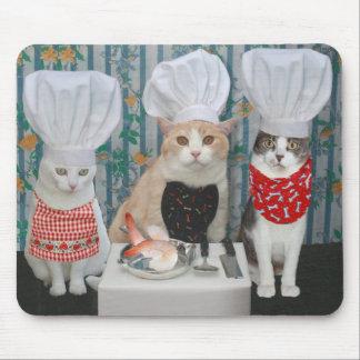 Katzen-/Kitty-Köche Mousepad