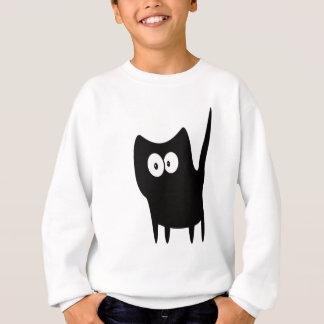 Katzen-kleine stehende Schwarz-hallo Augen Sweatshirt