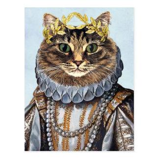 Katzen-Königin 2 Postkarte