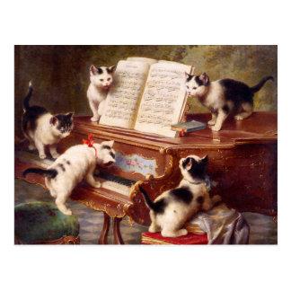 Katzen-Kunst: Der Erwägungsgrund des Kätzchens Postkarte