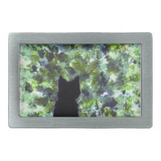Katzen-Kunst-niedliche schwarze Katzen-Malerei Rechteckige Gürtelschnalle