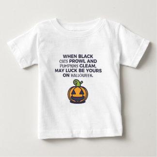 Katzen-Kürbis-Halloween-Entwurf Baby T-shirt
