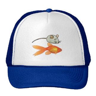 Katzen-Leckereien (Mäuse und Fische) Trucker Mütze