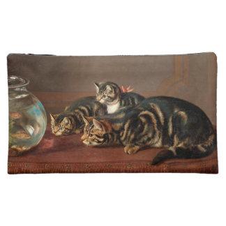 Katzen-Liebe-Fisch-Kosmetik-Tasche Cosmetic Bag