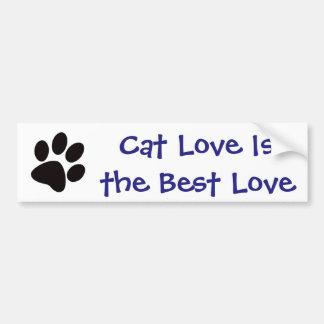Katzen-Liebe ist die beste Liebe Autoaufkleber