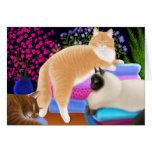 Katzen-Liebe-saubere Wäscherei-Karte