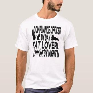 Katzen-Liebhaber-Befolgungs-Offizier T-Shirt