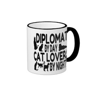 Katzen-Liebhaber-Diplomat Ringer Tasse