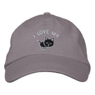 Katzen-Liebhaber gestickter Hut Baseballcap