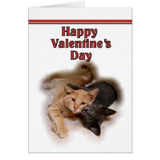 Katzen-Liebhaber-glückliche Valentinstag-Karte Karte