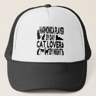 Katzen-Liebhaber-Harmonika-Spieler Truckerkappe