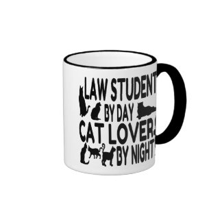 Katzen-Liebhaber-Jurastudent Ringer Tasse