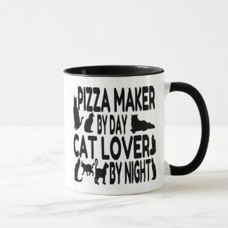 Katzen-Liebhaber-Pizza-Hersteller Tasse