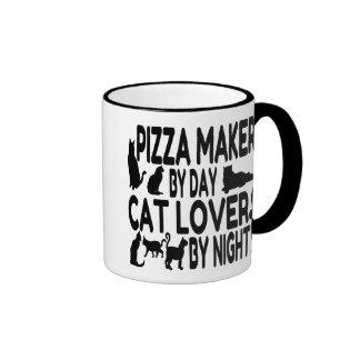Katzen-Liebhaber-Pizza-Hersteller Tee Tassen
