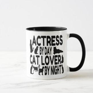 Katzen-Liebhaber-Schauspielerin Tasse