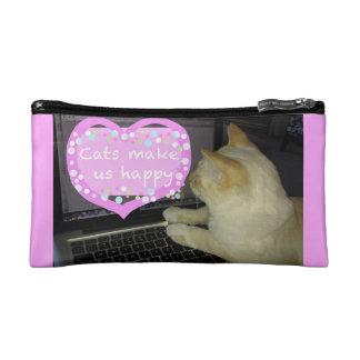 Katzen machen uns glücklichen kosmetiktasche