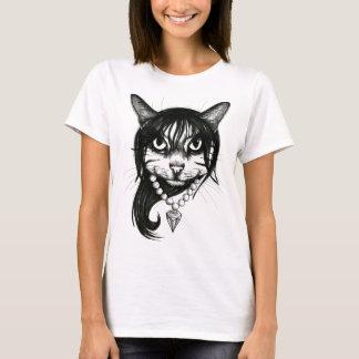 Katzen-Mädchen T-Shirt
