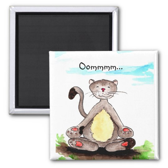 Katzen-Magnet Quadratischer Magnet