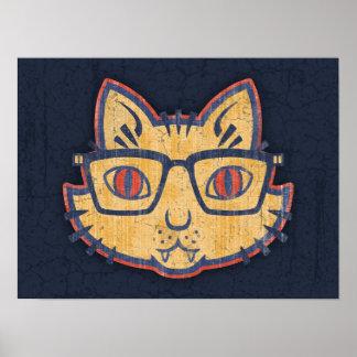 Katzen-Nerd Poster