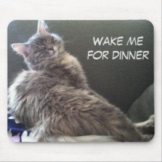 Katzen-Nickerchen: Wecken Sie mich für Abendessen Mousepad
