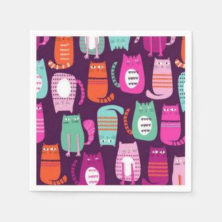 Katzen-Papierserviette Serviette