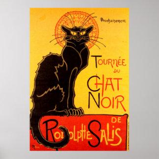 Katzen-Plakat Tournee du Chat Noir Poster