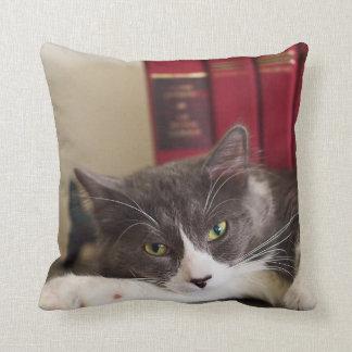 Katzen-Porträt-BaumwollWurfs-Kissen Kissen