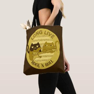 Katzen-Punkrock-Musik-E-Gitarre goldenes Brown Tasche
