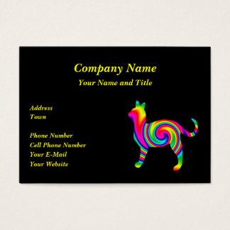 Katzen-Regenbogen-Drehung Visitenkarte