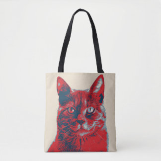 Katzen-Retro Hoffnungs-Plakat Tasche