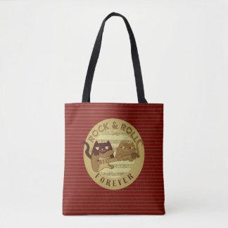 Katzen-Rockmusik-E-Gitarren-goldene Streifen Tasche