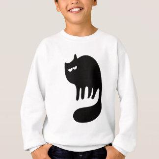 Katzen-schnurrende Schwarz-hallo Augen Sweatshirt