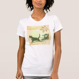 Katzen-Schuh-Schlitten Hemden