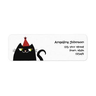 Katzen-schwarzes niedliches fettes