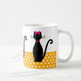 Katzen-Silhouetten Kaffeetasse