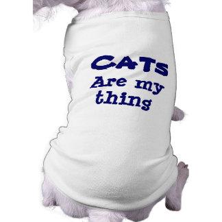 Katzen sind mein Sache-lustiger Hund Ärmelfreies Hunde-Shirt
