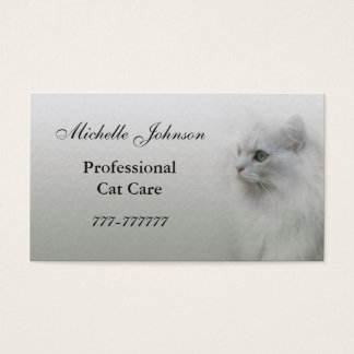 Katzen-Sorgfalt-Visitenkarte Visitenkarte