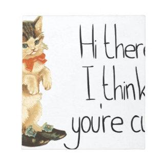 Katzen-Sprichwort Notizblock