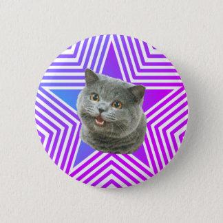 Katzen-Stern-Knopf Runder Button 5,7 Cm