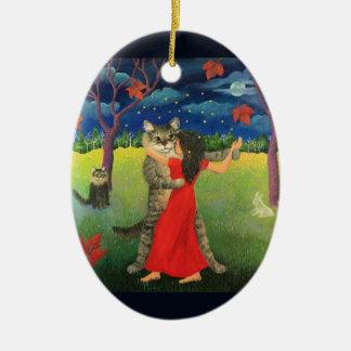 Katzen-Tanzen-Verzierung Keramik Ornament