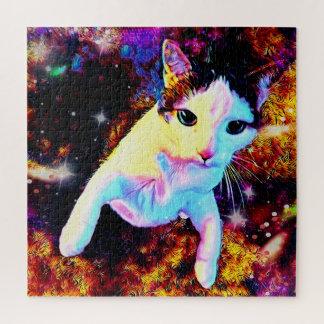 Katzen-Tanzkitty-bunte Disco-niedliches Puzzle