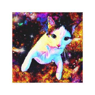Katzen-Tanzkitty-bunter niedlicher Leinwanddruck